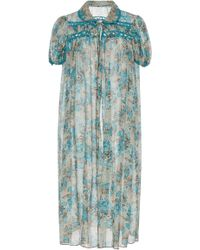Anna Sui - Nightingale Cotton And Silk Cover-up - Lyst