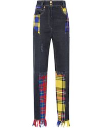 Versace - Distressed Denim Pant - Lyst