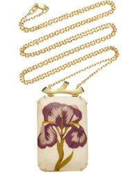 Silvia Furmanovich - Marquetry Purple Flower Necklace - Lyst