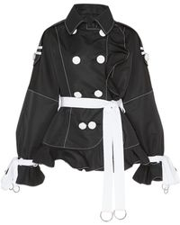 Andrew Gn - Double Breasted Ruffle Jacket - Lyst