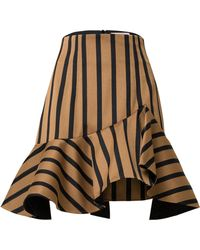 Dorothee Schumacher - Asymmetrical Striped Mini Skirt - Lyst