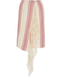 Jaline - Thelma Silk Wrap Skirt - Lyst
