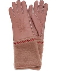 Bottega Veneta - Shearling Gloves - Lyst