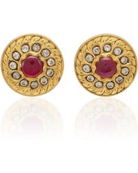 Amrapali - 18k,22k, 24k Gold, Ruby And Diamond Earrings - Lyst