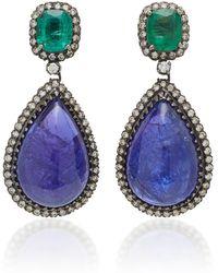 14K Gold Multi-Stone Earrings Amrapali EGy6I6m