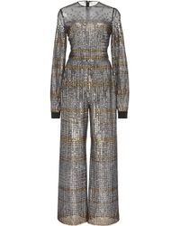 Sale How Much Low Shipping Fee Online Metallic Embroidered Jumpsuit Elie Saab 1vgDIFaLS