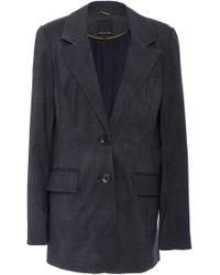 Marissa Webb - Olson Long-line Wool Blend Blazer - Lyst