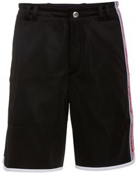 Givenchy - Logo-trimmed Satin-jersey Shorts - Lyst