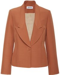 Nellie Partow - Liev Tailored Crepe Blazer - Lyst