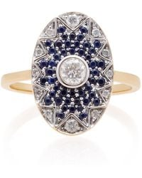 Yvonne Léon - Napoleon Star 18k Gold, Diamond And Tsavorite Ring - Lyst