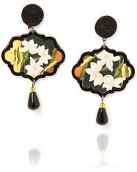 Anna E Alex - Marco Polo Lotus Flower Earrings - Lyst