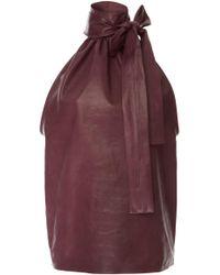 Rochas - Turtleneck Top In Leather - Lyst
