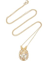 Yvonne Léon | 18k Gold Pearl Necklace W/ Removable Cage | Lyst