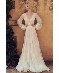 Costarellos Bridal - Embroidered Lace Ethereal Gown - Lyst