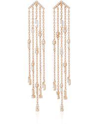 Suzanne Kalan | 18k Rose Gold Diamond Chandelier Earrings | Lyst