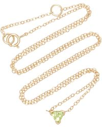 Shahla Karimi - Trillion 14k Gold Peridot Necklace - Lyst