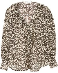 Sea - Lottie Leopard-print Cotton Blouse - Lyst