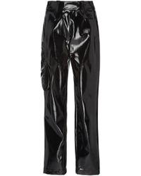 Eleanor Balfour - Exclusive Stephanie Cropped Straight-leg Vinyl Pant - Lyst