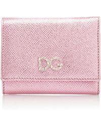 Dolce & Gabbana - Crystal-embellished Metallic Leather Wallet - Lyst
