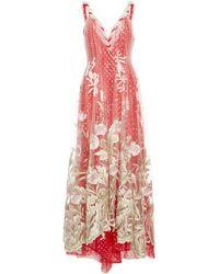 Rodarte | Embroidered Tulle Dress | Lyst