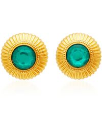 Ben-Amun - Gold-plated Crystal Stud Earrings - Lyst
