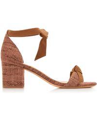 Alexandre Birman - Clarita Block Heel Tweed And Suede Sandals - Lyst