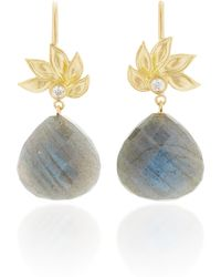 Jamie Wolf | 18k Gold, Labradorite And Diamond Earrings | Lyst