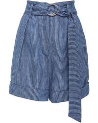 Mara Hoffman - Striped Denim Shorts - Lyst