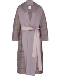 Agnona - Zybellin Belted Puffer Coat - Lyst