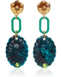 Lulu Frost - M'o Exclusive Vintage Tigereye And Beaded Earrings - Lyst