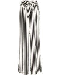 FRAME - Striped Crepe De Chine Pajama Pants - Lyst