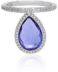 Nina Runsdorf - 18k Platinum And Tanzanite Flip Ring - Lyst