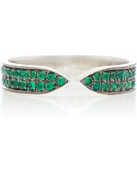 Ralph Masri - 18kt White Gold And Emerald Ring - Lyst