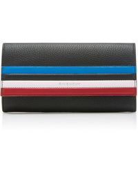 Givenchy - Pandora Striped Textured-leather Wallet - Lyst