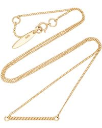 ISABEL LENNSE - Twisted 14k Gold Necklace - Lyst