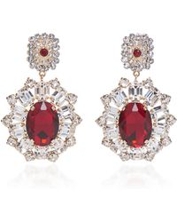Dolce & Gabbana - Red Crystal Earrings - Lyst