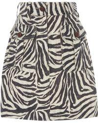 Zimmermann - Corsage Safari Miniskirt - Lyst