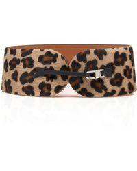 Maison Vaincourt - M'o Exclusive Leopard Print Calf-hair Belt - Lyst