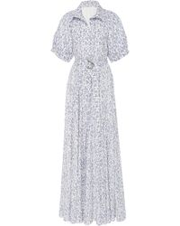 Lein - Madsie's Botanical Printed Button-down Cotton Dress - Lyst