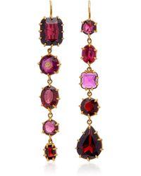 Renee Lewis - 18k Gold Garnet Earrings - Lyst