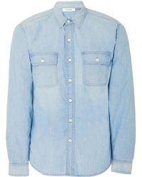 FRAME - Faded Chambray Shirt - Lyst
