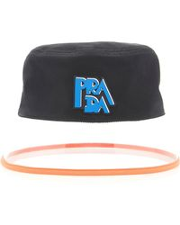 Prada - Popeline Bucket Hat - Lyst