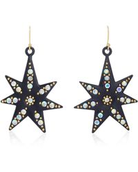 Lulu Frost - Orana Gold-plated Crystal Star Earrings - Lyst