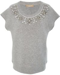Michael Kors - Cut Off Necklace Sweatshirt - Lyst