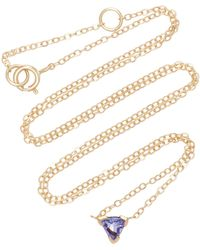 Shahla Karimi - Trillion 14k Gold Tanzanite Necklace - Lyst