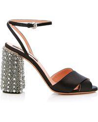 Rochas | Crystal Heel Sandal | Lyst