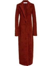 Marina Moscone - Maxi Wool-blend Longline Coat - Lyst
