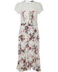 Marissa Webb - Imani Print Lace Midi Dress - Lyst