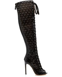 Giambattista Valli - Laser-cut Over-the-knee Laced Boot - Lyst