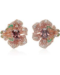 Anabela Chan - M'o Exclusive Rose Peony Earrings - Lyst